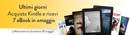 acquista un kindle, 7 libri ebook in regalo