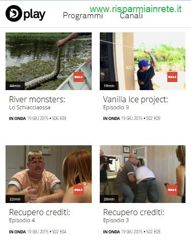 Discovery channel su internet