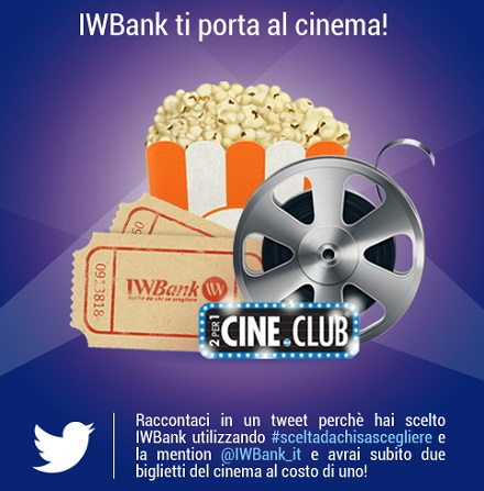 iwbank ti porta al cinema