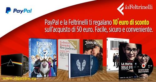 buono sconto paypal per LaFeltrinelli
