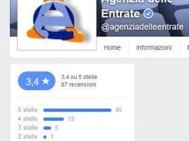 pagina facebook agenzia delle entrate