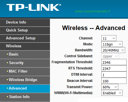 cambiare canale wireless