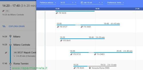 esplora orari dei treni su google maps