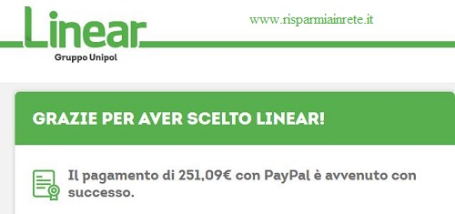 linear con paypal