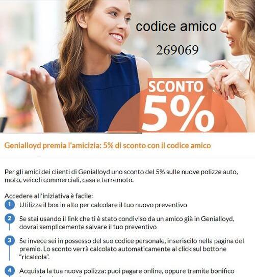 codice amico Genialloyd 269069