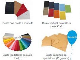 buste da lettera colorate