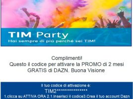 DAZN 2 mesi con TIM Party