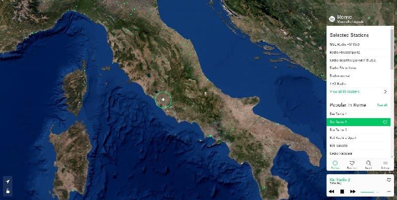 Cartina Italia Stazioni Radio